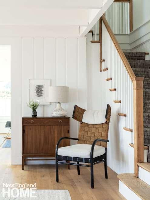 Hallway with Fritz Schlegel wingback chair