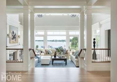 Elegant Cape Cod living room with coastal views
