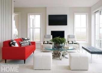 Contemporary living room Nantucket Home