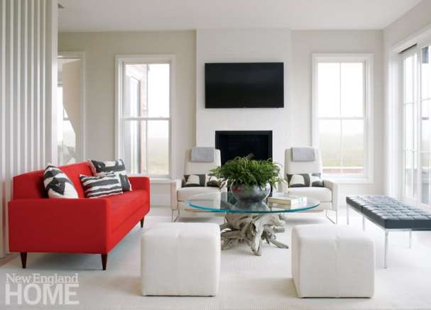 Contemporary living room Nantucket Home