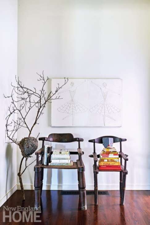 Two heirloom African chairs