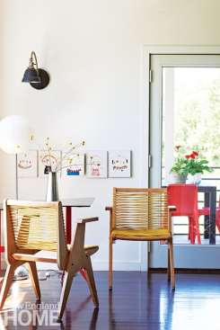 Dining are with vintage Robert Kayton chairs