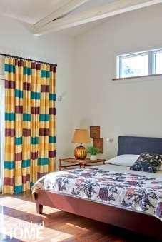 Master bedroom with Tillet Textiles