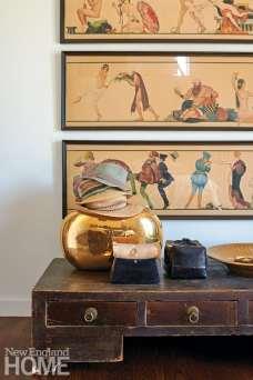 Art nouveau wallpaper frieze