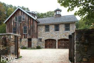 Barn side of stone building