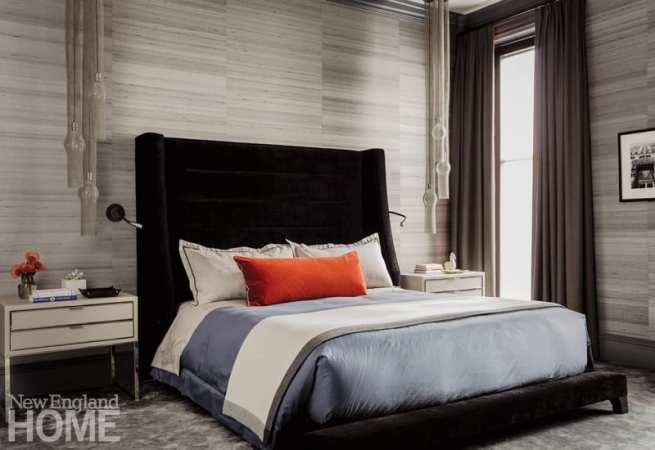 Master bedroom designed by Dee Elms