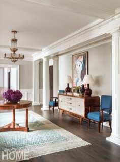 Living room with Biedermeier table