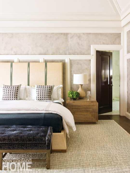 Serene master bedroom designed by Nina Farmer