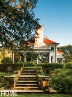 Side exterior Brookline Colonial
