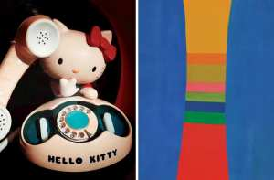 Hello, Kitty and Jack Bush painting