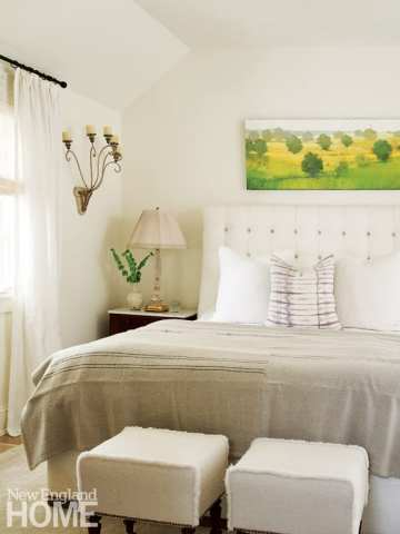 bedroom, bed with Paul Balmer painting above it