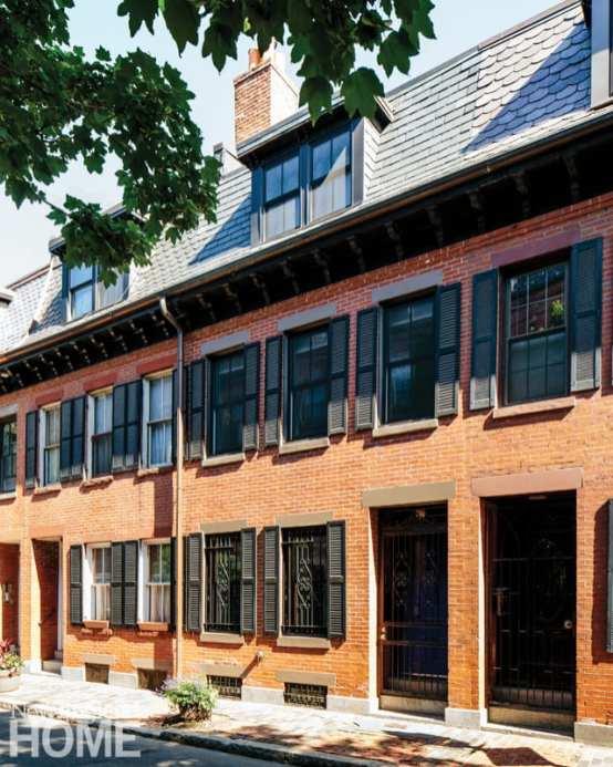 The red-brick facade