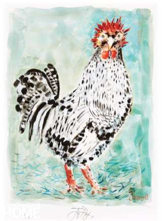 Painting of a rooster