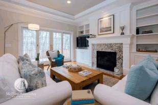 Custom Cape Cod Home living area