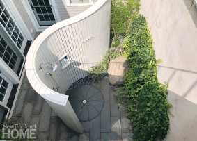an aerial view of an outdoor shower