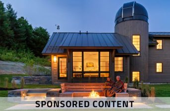 Five Essential Elements for a Home that Nurtures the Spirit: Mountain Modern lit up at night