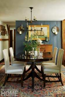 contemporary and traditional in wilton dining room