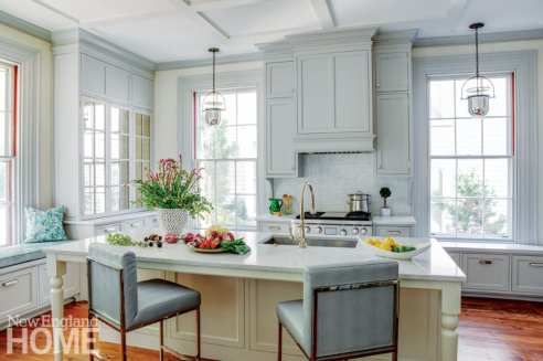 greek revival in providence kitchen