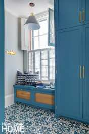 greek revival in providence mudroom
