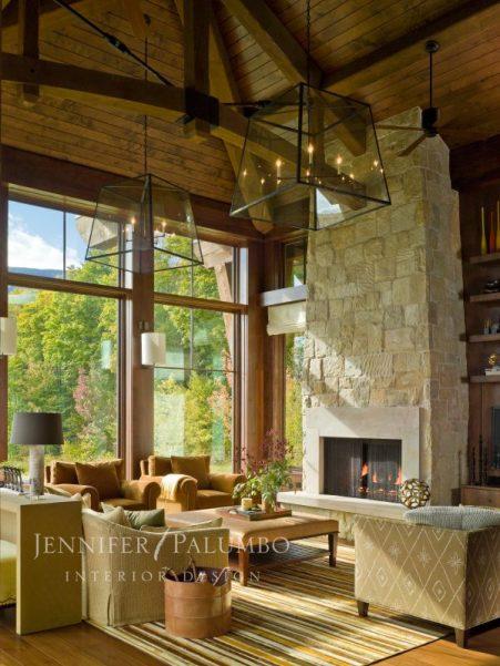 decorative lighting fireplace