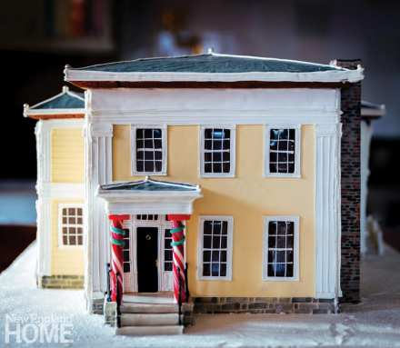 scale model of connecticut country house