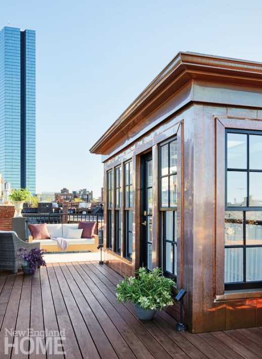 boston brownstone roof deck
