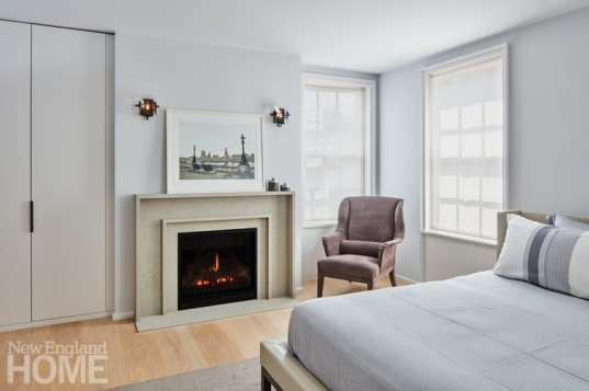 modern beacon hill master bedroom