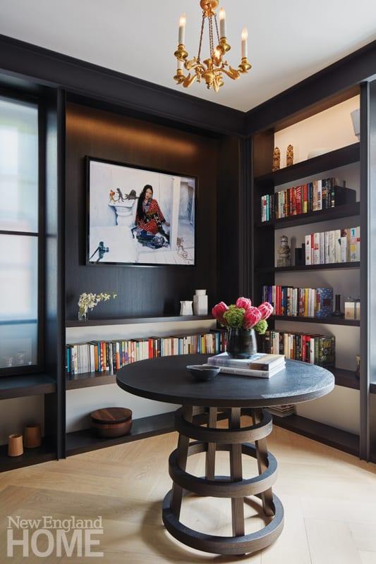 modern beacon hill library