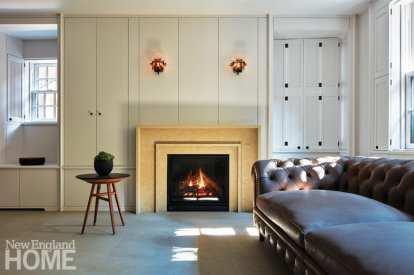 modern beacon hill fireplace