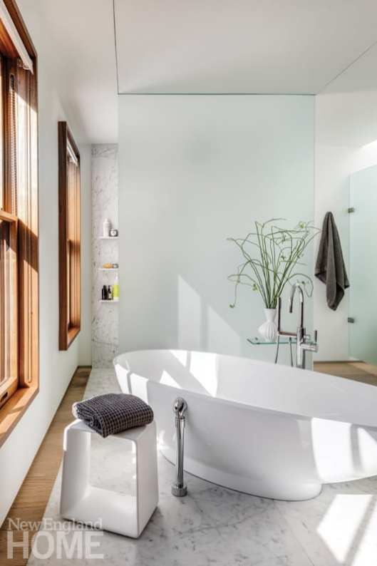 historic south end townhouse master bathroom