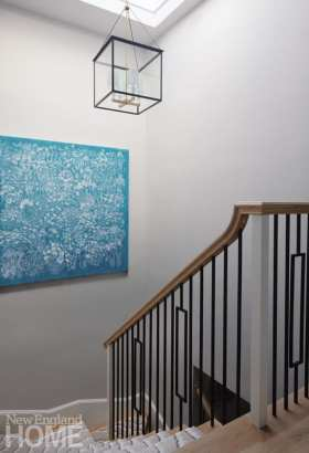beacon hill apartment stairwell