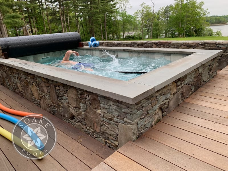 Plunge Pool New England swimmer