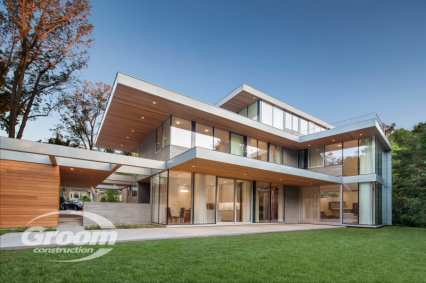 cost to build a contemporary home grass