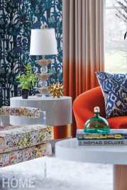 bright and bold living room detail