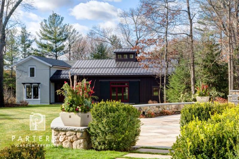 beautiful garden all year long house