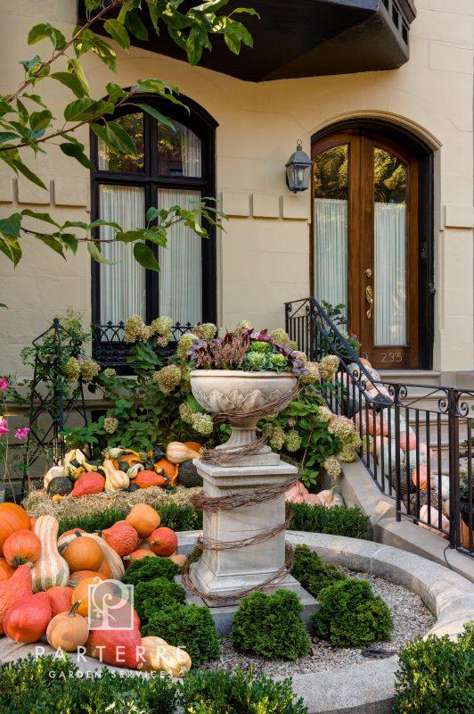 beautiful garden all year long pots fall halloween pumpkins
