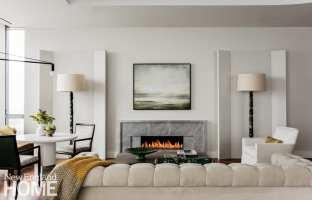 one dalton four seasons residences fireplace