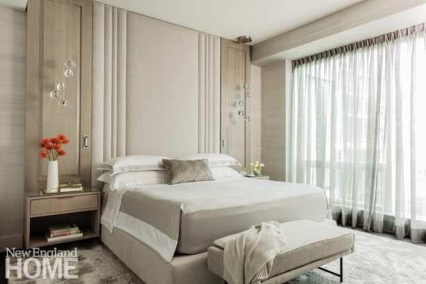seaport condo empty nesters bedroom