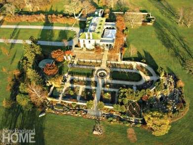 Beatrix Farrand gardens aerial view