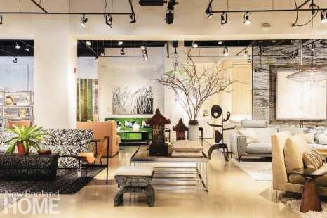 Modern Relik Boston living room vignette
