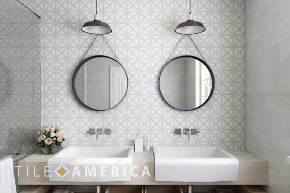 choosing tile double sinks
