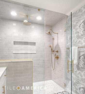 choosing tile enclosed shower