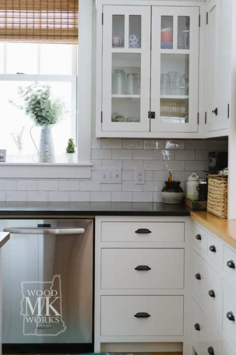 ways to modernize custom cabinets white kitchen