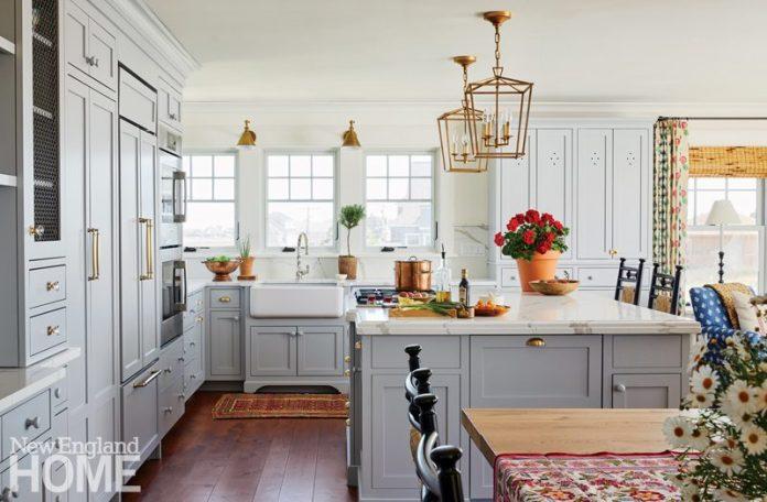 bright maine summer home kitchen
