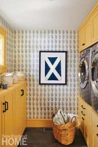 bright maine summer home laundry room