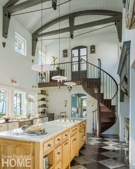 renovated vermont lake house kitchen