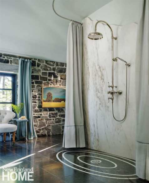 renovated vermont lake house bathroom