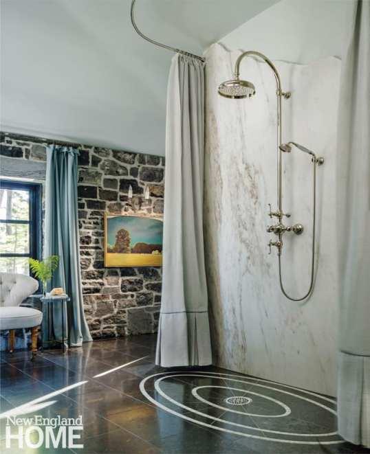 renovated vermont lake house bathroom