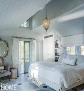 renovated vermont lake house bedroom