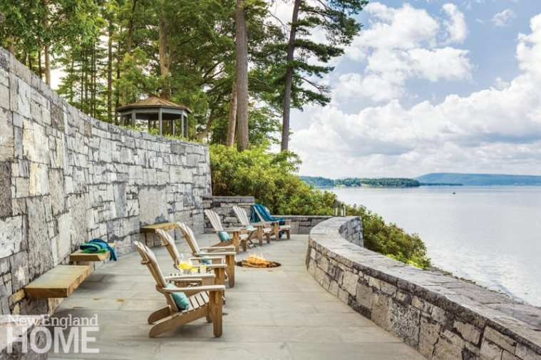 renovated vermont lake house terrace